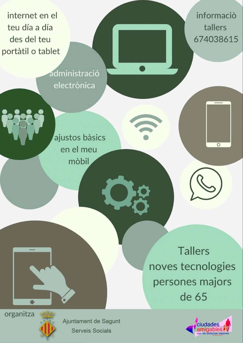 Talleres de tecnologías para personas mayores. / EPDA