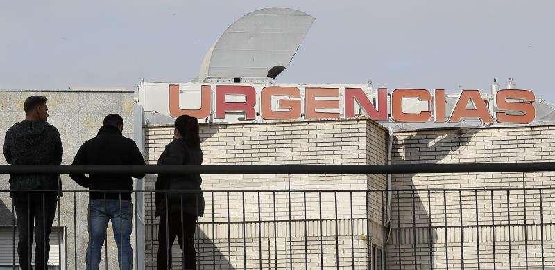 Exterior de la entrada de Urgencias de un hospital. EFE/Archivo