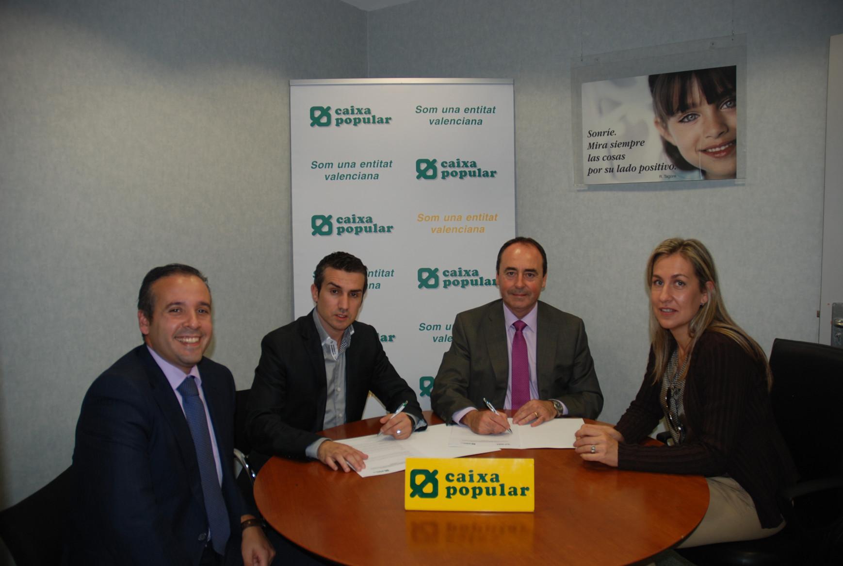 Firma convenio de Caixa Popular con Parque Empresarial Táctica de Paterna. EPDA
