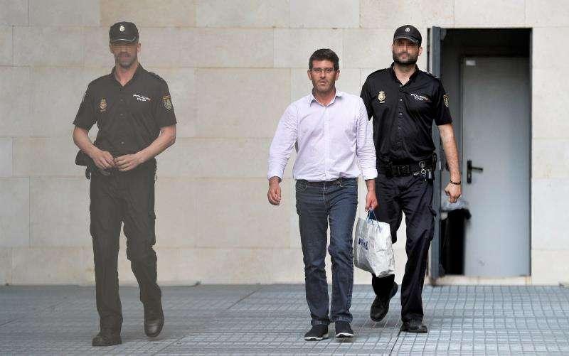 El expresidente de la Diputación de Valencia Jorge Rodríguez, en junio de 2018, cuando quedó en libertad. EFE/Archivo