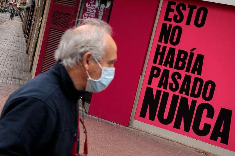 Hombre con mascarilla/EFE