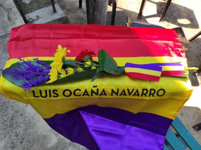 Restes exhumades de Luis Ocaña. / EPDA