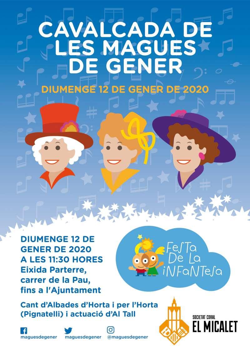 Cartel de la cavalcada Magues de Gener, València.- EPDA