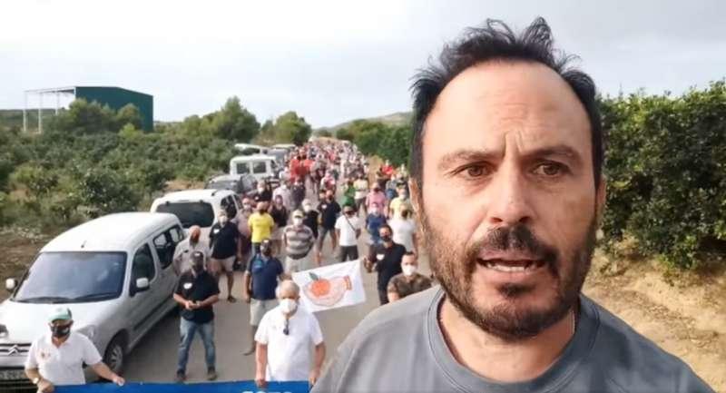 Juanvi Palleter durante la concentración. EPDA.