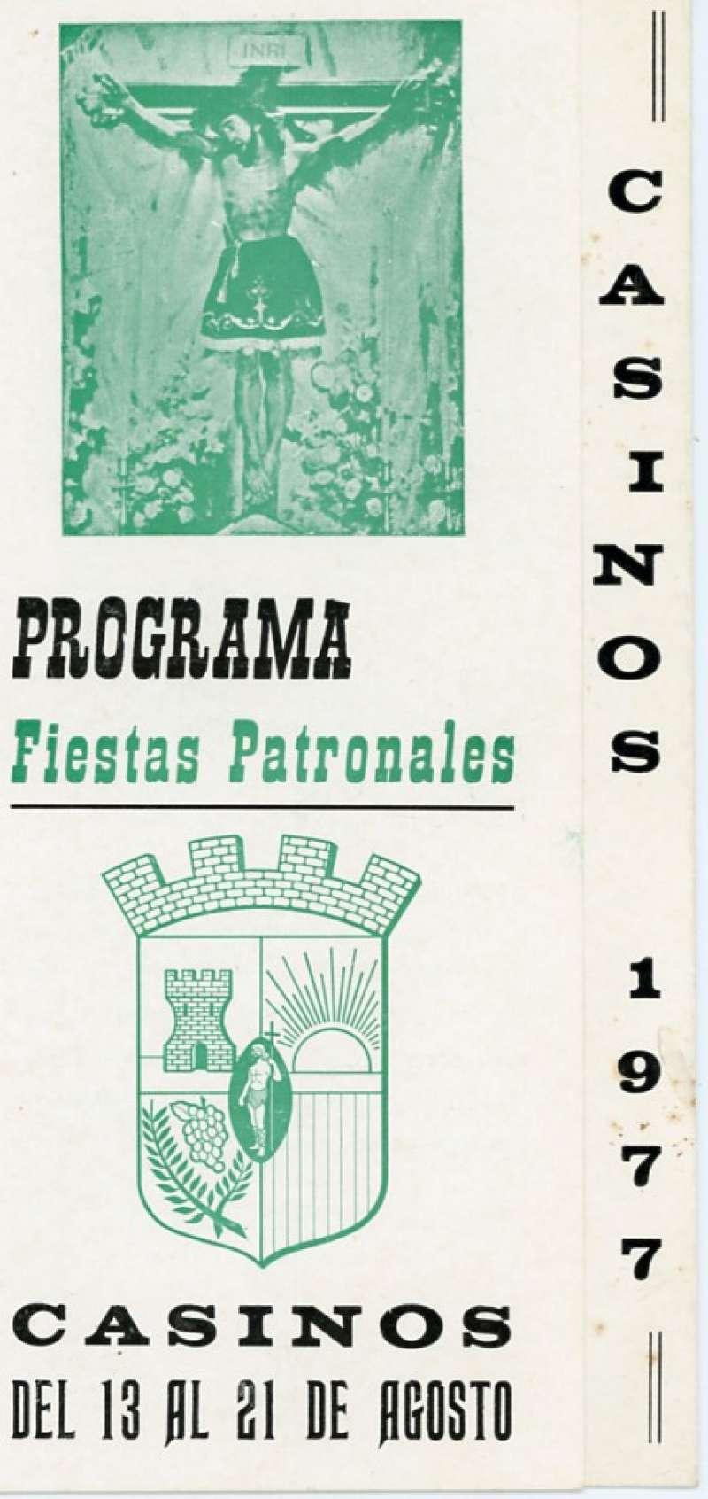 Programa de las Fiestas Patronales de Casinos de 1977. / Archivo JSMS.