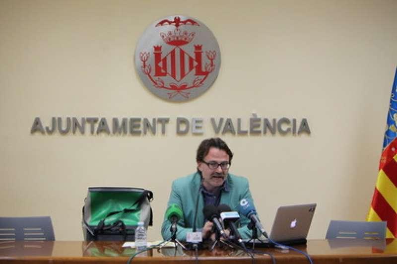 Giuseppe Grezzi, en rueda de prensa. FOTO VALENCIA.ES