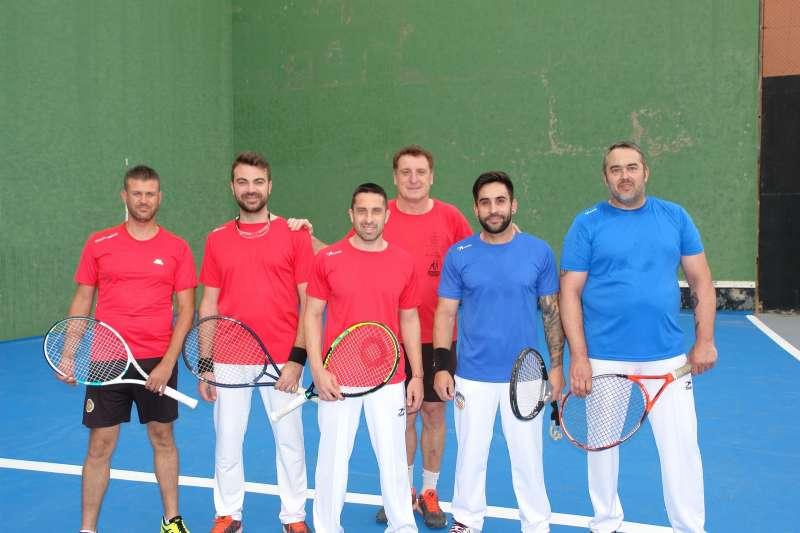 Jugadores del club Frontenis Benaguasil