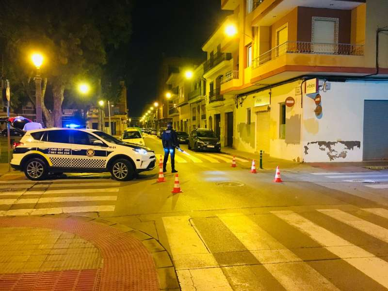 Un control policial a Foios. EPDA