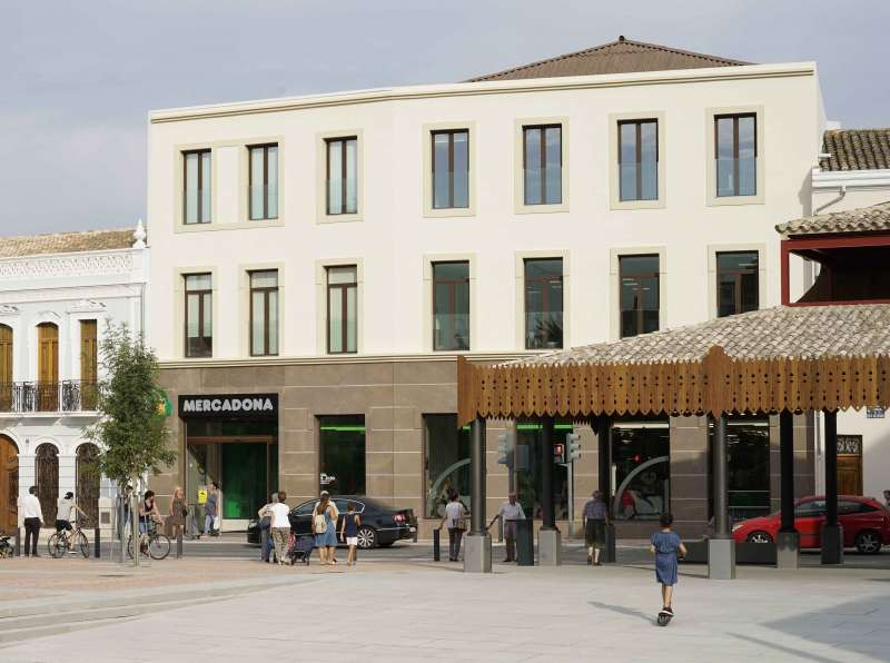 Fachada de Mercadona en Tavernes Blanques. EPDA