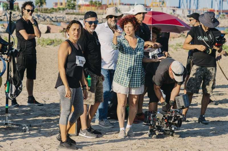 Candela Peña e Iciar Bollain durante el rodaje
