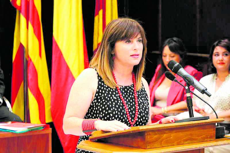 La delegada de Promoció Econòmica, María José Carrera. EPDA