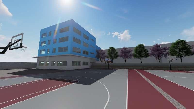 Edificio para Bachillerato en Mas Camarena Canet. / EPDA