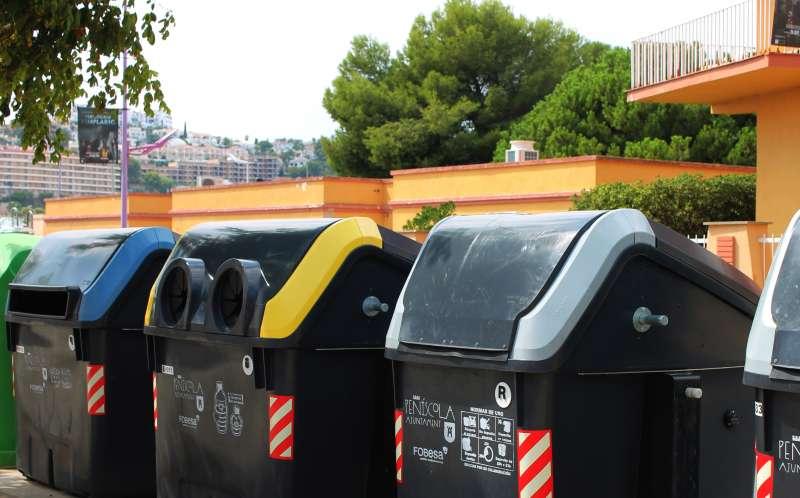 Contenedores de reciclaje. EPDA
