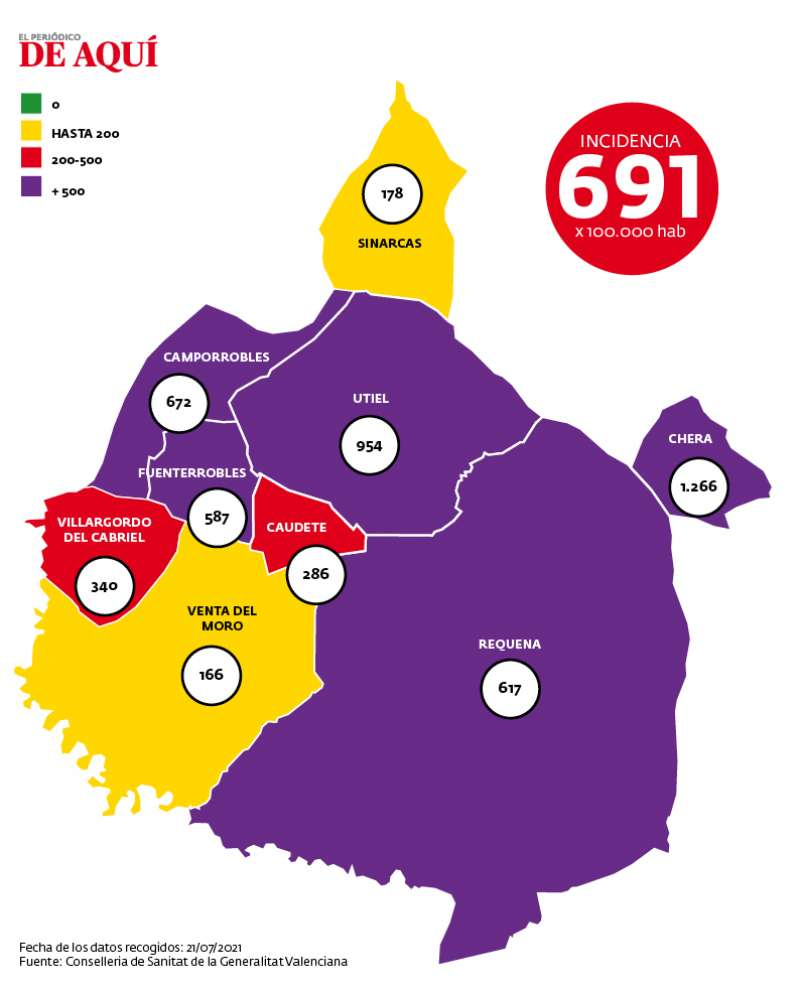 Mapa de incidencia de la comarca