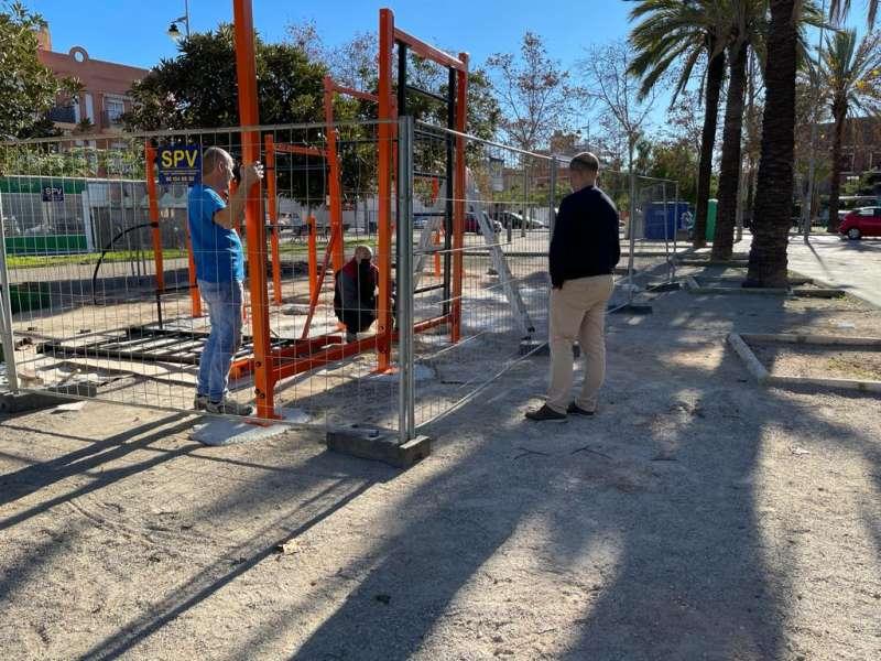 Obras parque Massamagrell./EPDA