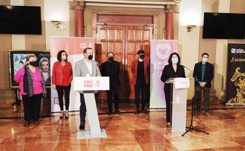 Los diputados del PSPV-PSOE y de Unides Podem por València en el Congreso Vicent Sarrià y Rosa Medel.
