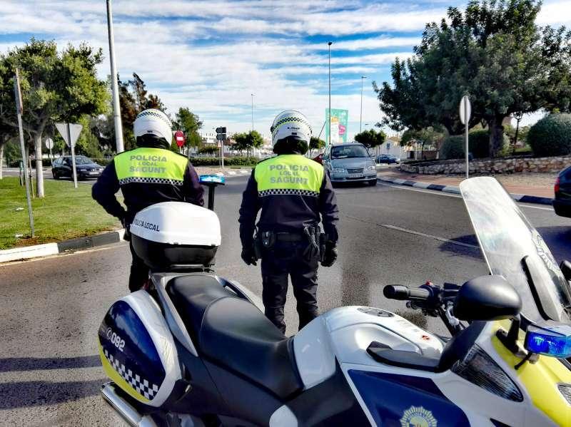 Agentes de la Policía Local de Sagunt.
