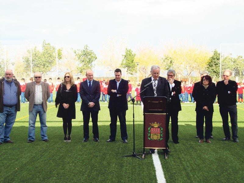El alcalde Adrián Carsí, en la intervención. FOTO I. S.
