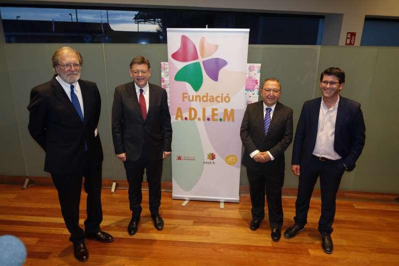 El President de la Generalitat Valenciana amb el president de la Diputació i alcalde d