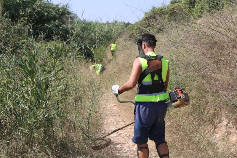 Trabajos de limpieza y mantenimiento
