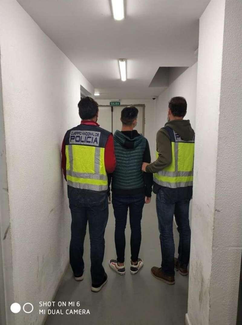 Imagen de la detención cedida por la Policía Nacional.