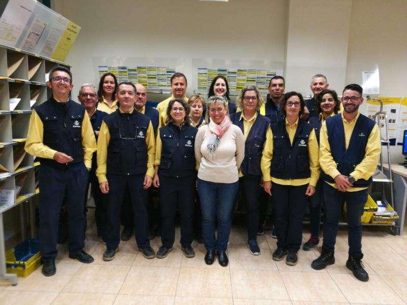 El equipo de Correos de Alfafar, en una imagen de Correos.
