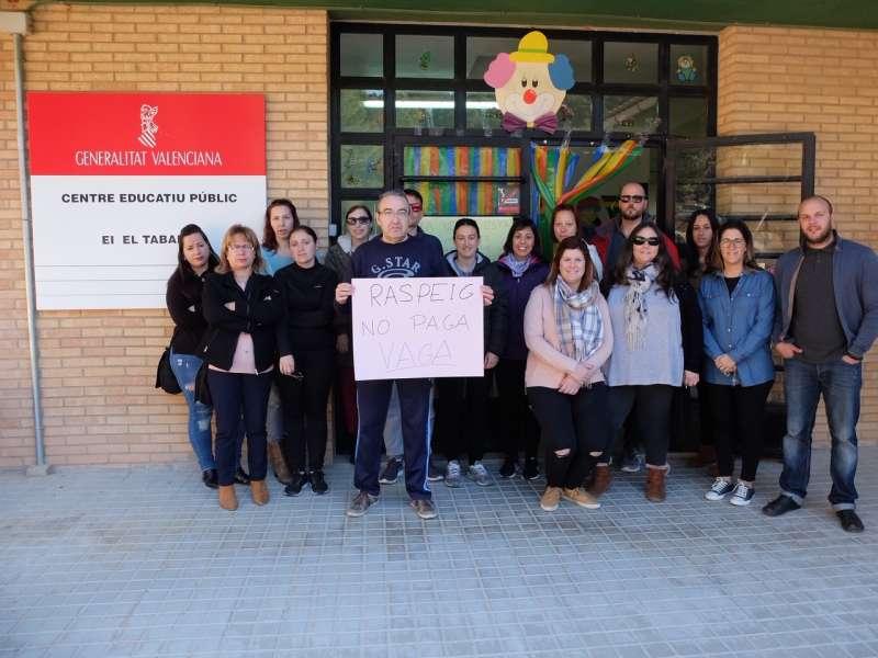Concentración en el colegio El Tabalet de Benifairó de les Valls. EPDA