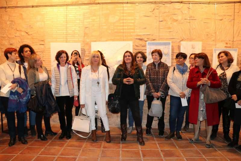 Exposició dels cartells del Dia de la Dona. EPDA
