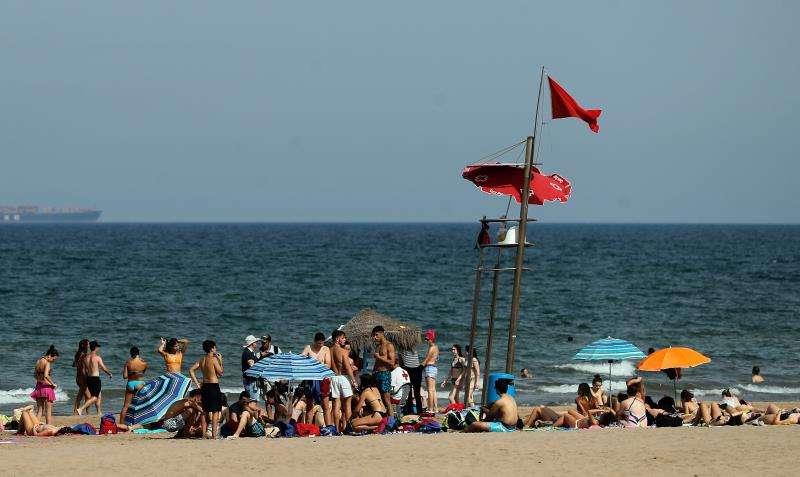 Imagen de la playa de la Malvarrosa. EFE/Archivo