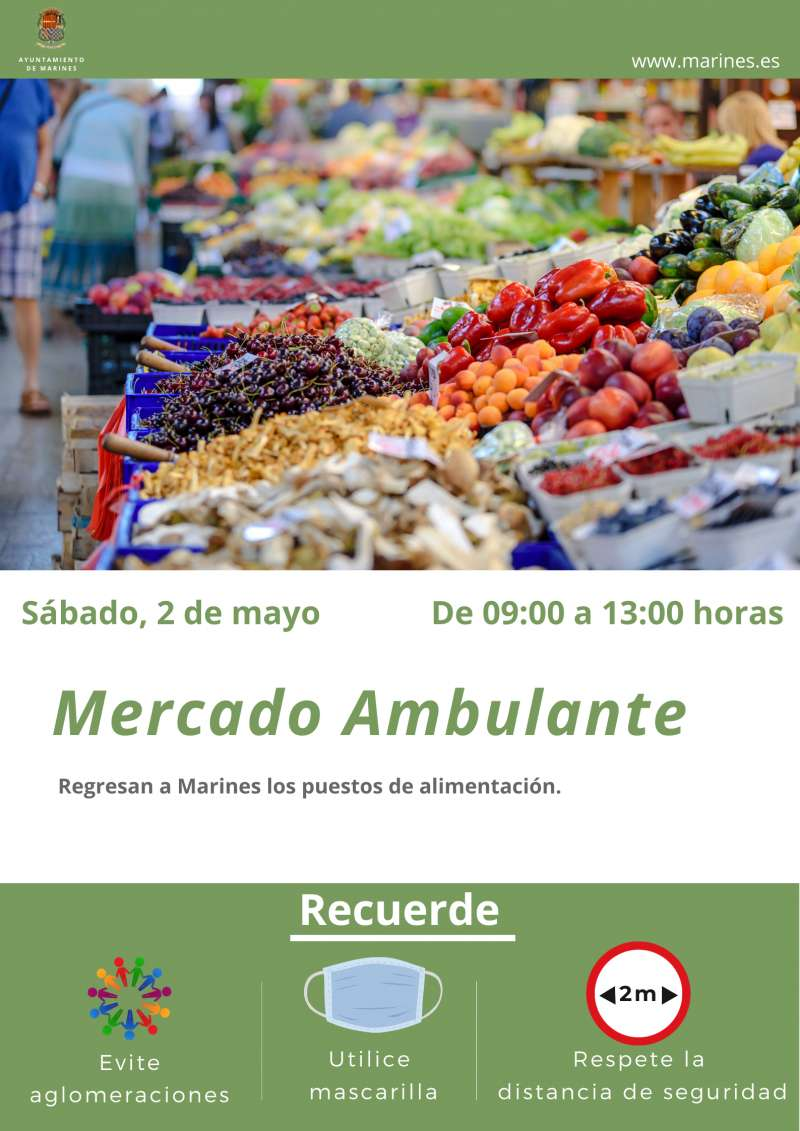 Cartel del mercado ambulante. / EPDA