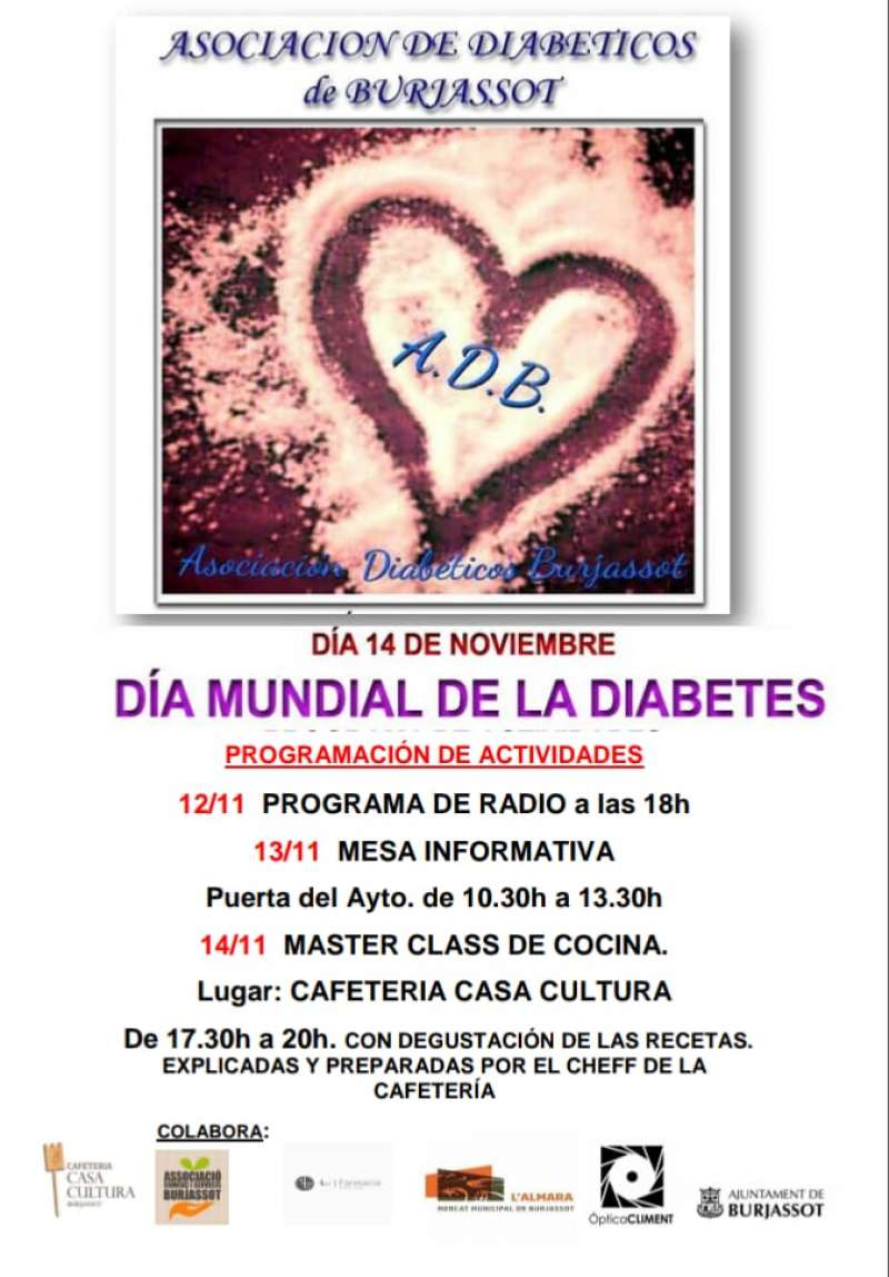 Cartel del Día Mundial de la Diabetes. EPDA