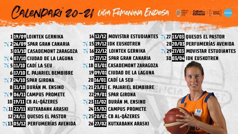 Foto calendario Valencia Basket