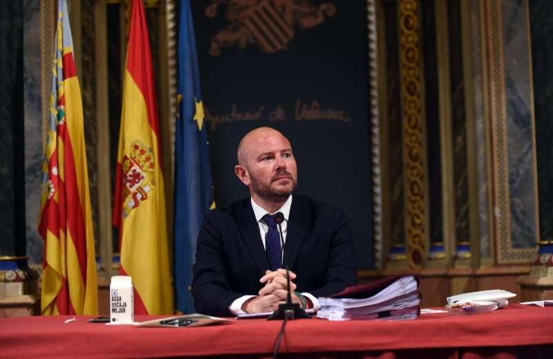 Toni Gaspar en el Pleno de la Diputación./PDA