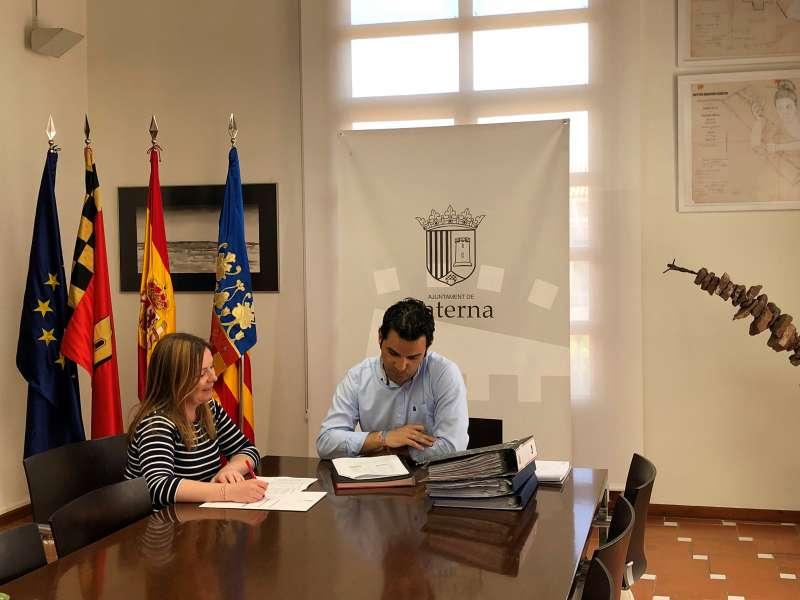Sagredo y Pérez en una reunión. EPDA