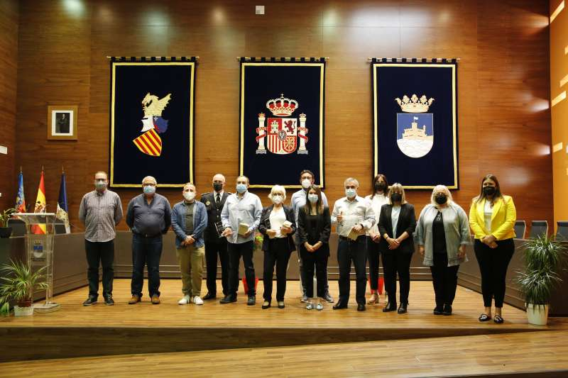 Homenaje realizado en el Ayuntamiento de Oropesa del Mar.