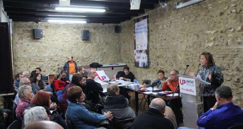 La coordinadora d?EUPV, Marga Sanz, en la assemblea