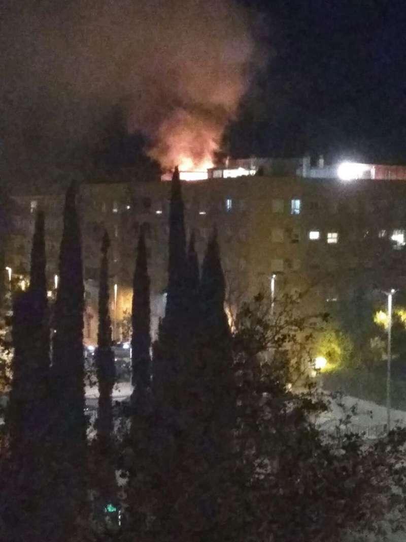 Las llamas eran visibles desde lejos. EPDA