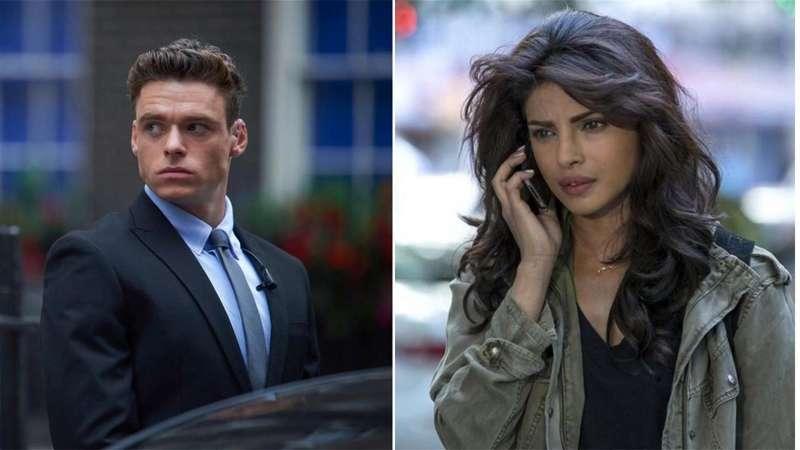 Los protagonistas de la serie, Priyanka Chopra y Richard Madden, en una imagen difundida por el Ayuntamiento de Tous.