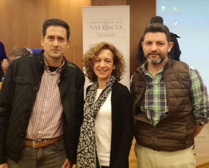 Los tres concejales del PP de El Puig. EPDA.
