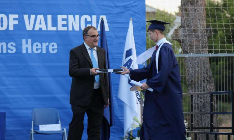 Un momento del acto de graduación.
