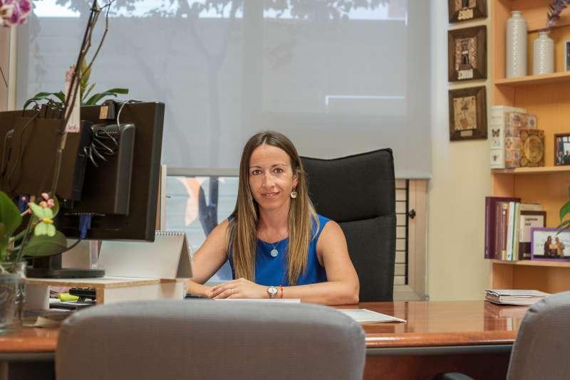 Cristina Civera, en su despacho