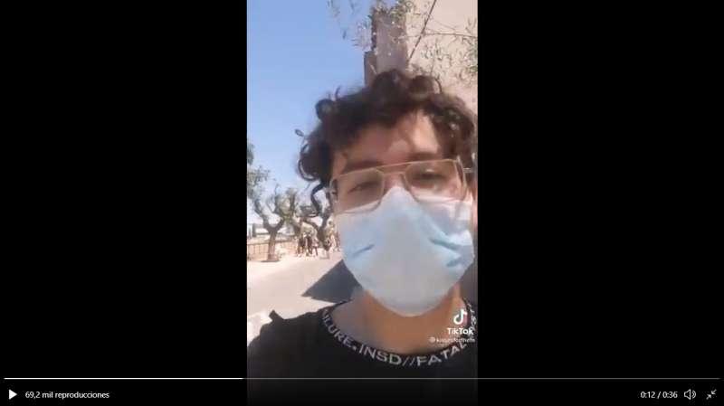 Captura del vídeo de su perfil de Tik Tok./EPDA