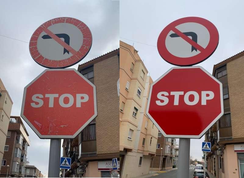 Les senyals abans i després. EPDA