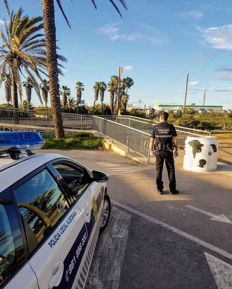 Control policial en Alboraya. EPDA