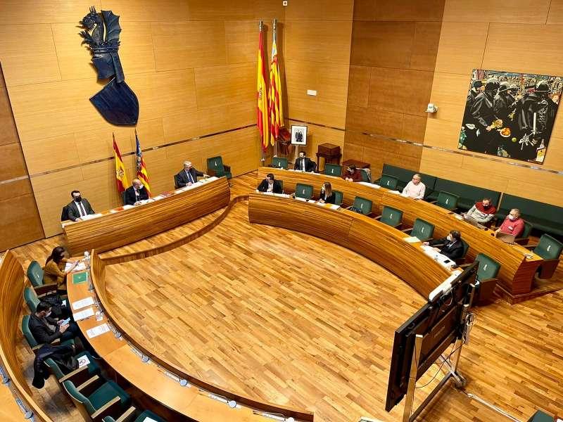 Foto pleno Diputació València./EPDA