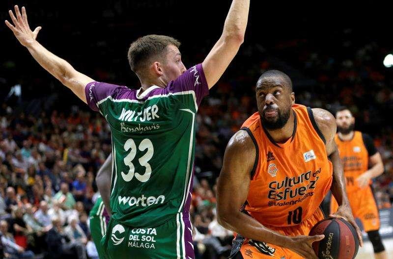 El ala pivot estadounidense del Valencia Basket Will Thomas. EFE