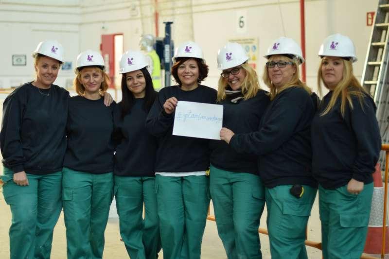 Alumnas de la Fundación Laboral de la Construcción