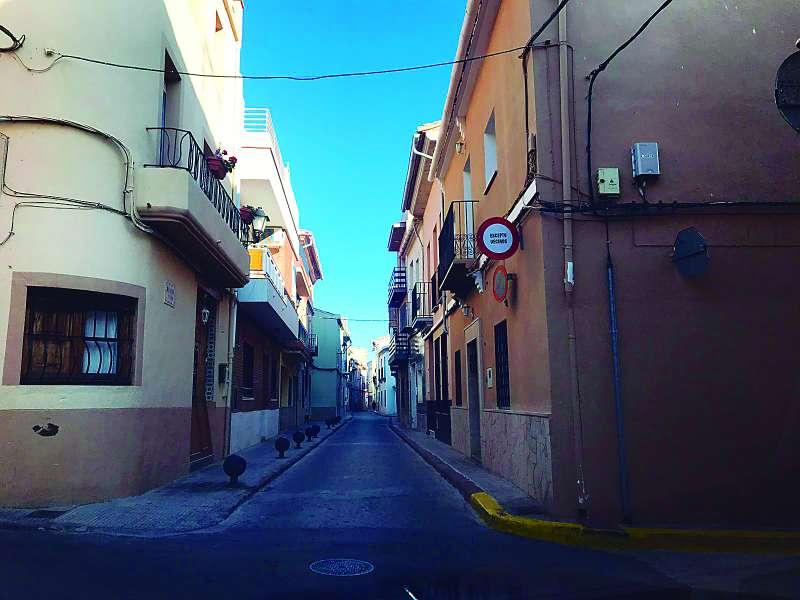 Imagen de la calle  Mayor de Benifairó. EPDA