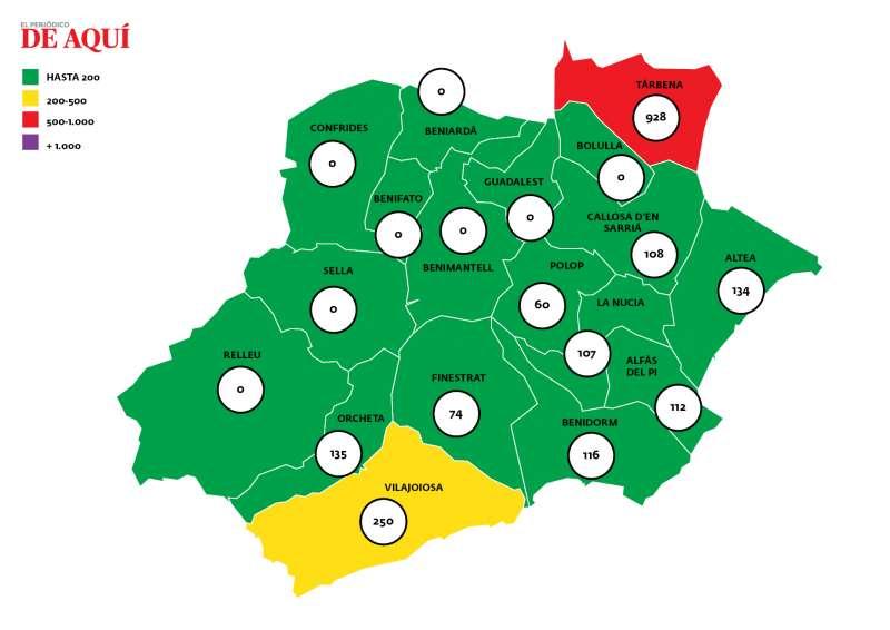 Mapa de incidencia/EPDA
