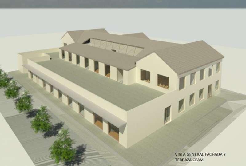 Renderización del proyecto del nuevo CEAM en el antiguo supermercado para trabajadores de AHM. / EPDA